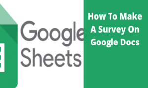 Read more about the article How To Make A Survey On Google Docs