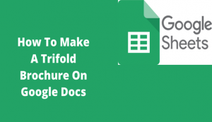 Read more about the article How To Make A Trifold Brochure On Google Docs