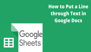 Read more about the article How to Put a Line through Text in Google Docs